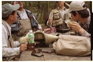 Leica M3, 50mm f2 Summicron, Kodak 160NC, Fishermen taking a break