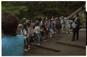 Leica M3, 50mm f2 Summicron, Kodak 160NC, School kids at Yutaki Waterfall