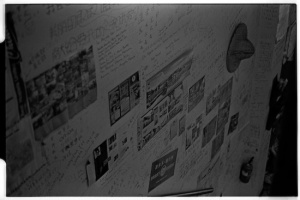 Tunxi Youth Hostel lobby wall (Leica M6 + 50mm f2 Summicron + Kodak Tri-X)