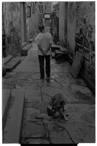 Xiao Likeng villager with dog (Leica M6 + 50mm f2 Summicron + Kodak Tri-X)