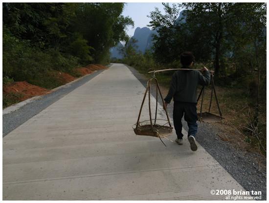 Cycling around the Yangshuo countyside...