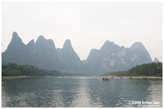Eroded landscape along Li River