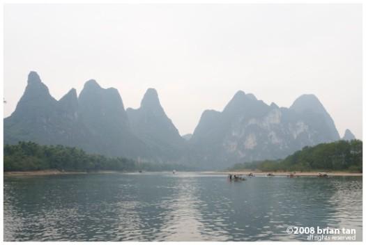 Eroded landscape along Li River