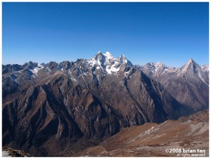 View at close to 4600m altitude