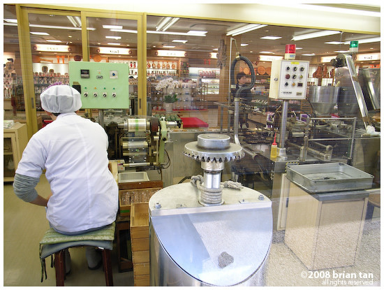 Impressive looking cookie stamping machine in one of the high street stores on Miyajima