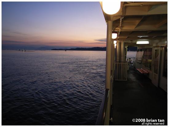 Morning ferry to Miyajima from Miyajimaguchi
