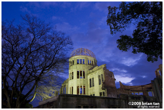 A-bomb Dome at dusk