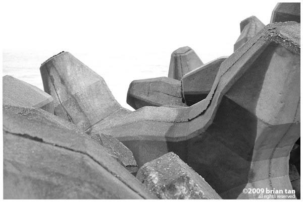 Concrete breakwater