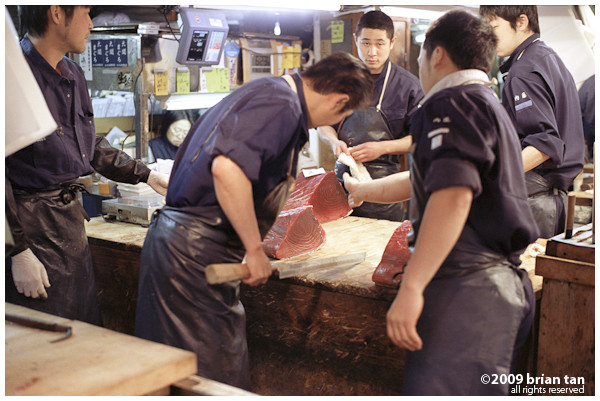 Dividing up a giant tuna