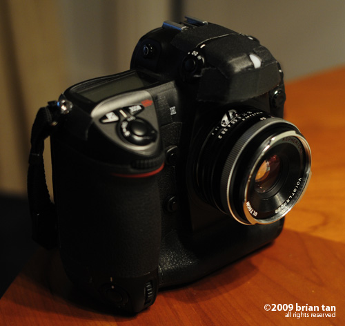 The ULTRON in action on a Nikon D2H body...