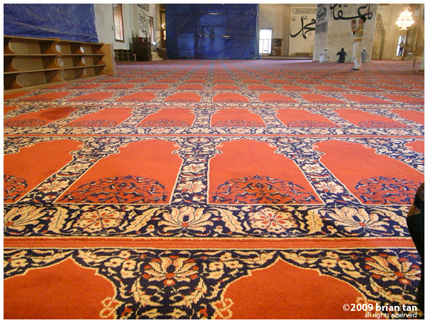 Edirne Old Mosque: Carpet design
