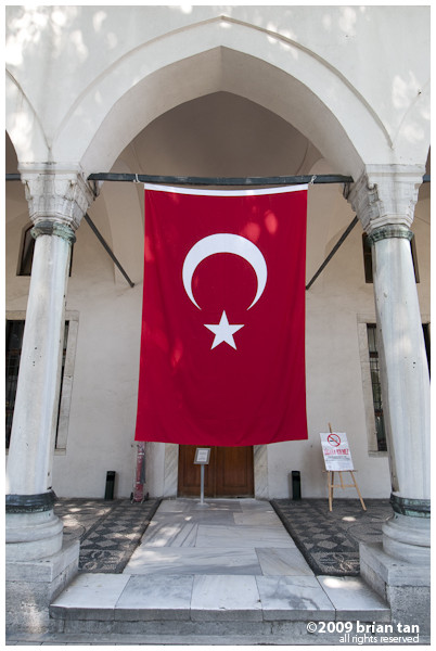 Turkish Flag at Topkapi Palace, Istanbul