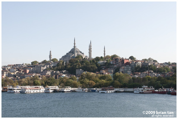 Suleymaniye Mosque from Ataturk Bridge
