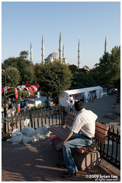 Blue Mosque from Sultanahmet Square