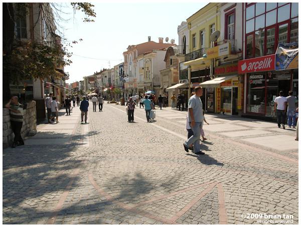 Edirne town center, close to Hurriyet Meydani