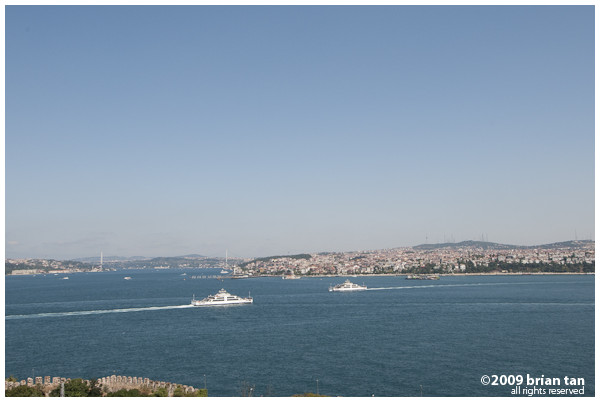 The Bosphorus and Anatolia from Topkapi Palace