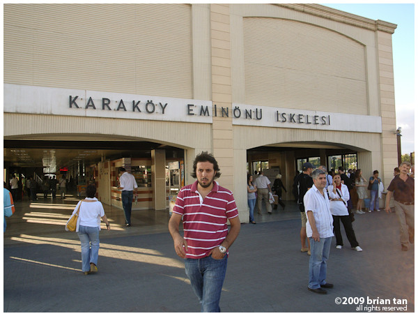 Finally: Karakoy ferry station in Asia