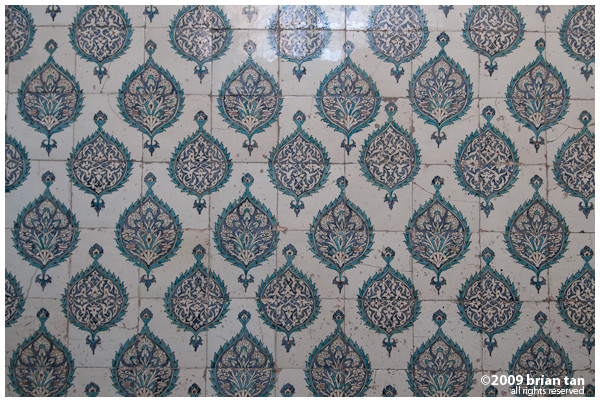 This palace is just filled with tiles from Iznik