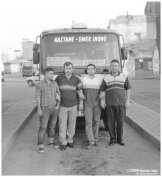 Bus Drivers at Kayseri's Yogunburc Street station