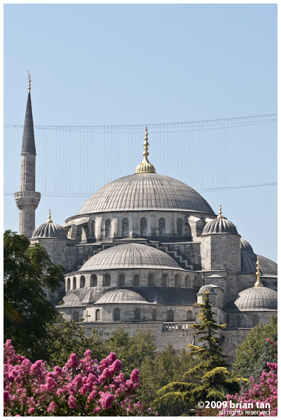 Sultanahmet Mosque closeup