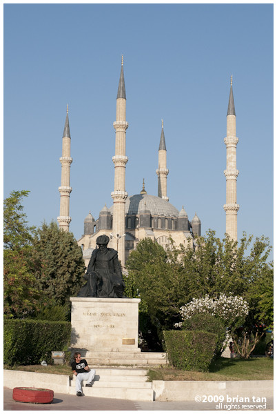 Most tourists come to Edirne to see Selimiye Mosque, one of Mimar Sinan's prime creation