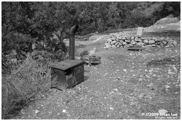Strange to find a rusting stove at the Vespasian Tunnel in Cevlik