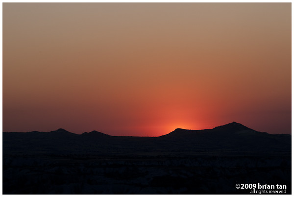 Sunset over Cappadocia...