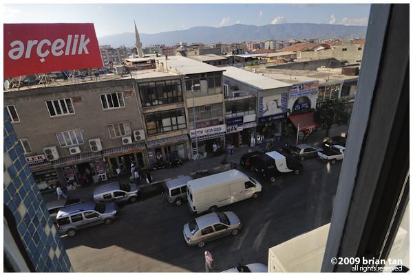 Downtown Antakya from my hotel room