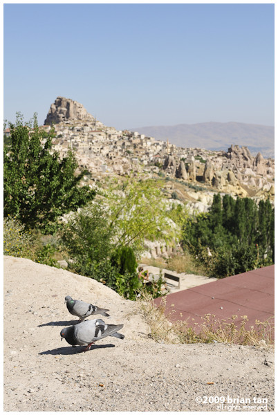 Pigeon Valley, with Uchisar Castle in the background