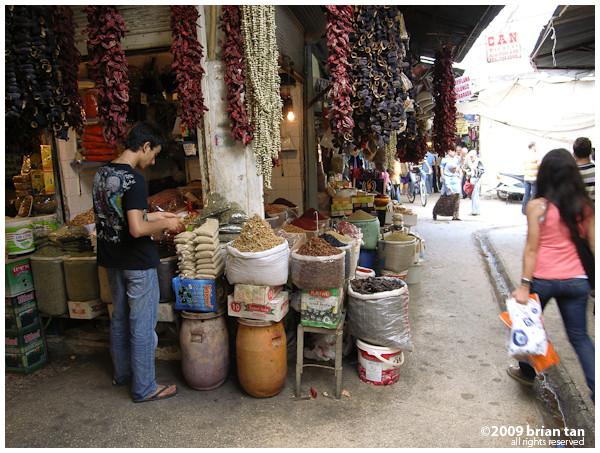 Spice market in Antakya