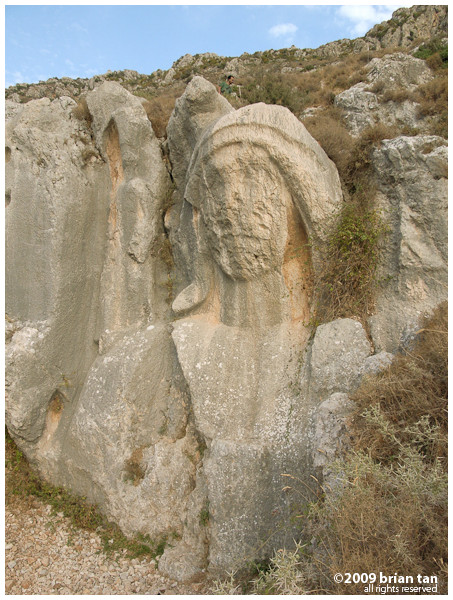 What do you think? Does this carving look like a biblical character?