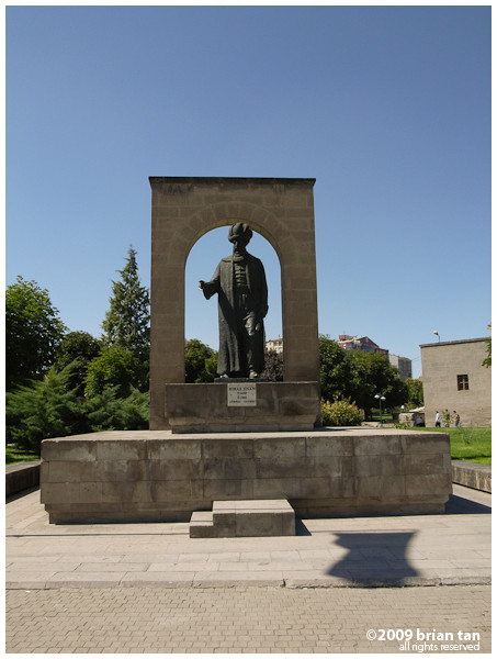 Mimar Sinan's statue at the park with his namesake