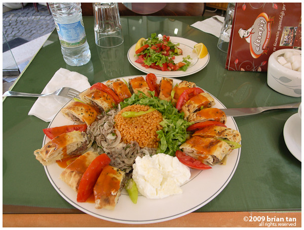 Lunch: Beyti Kebap - yes, it was VERY heavy