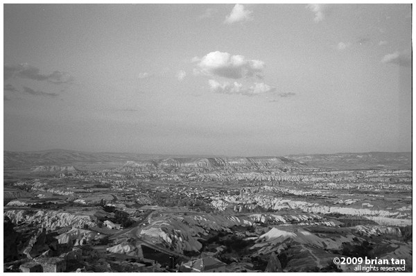 View of Cappadocia from Uchisar Castle