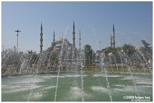 Sultanahmet Mosque from the park