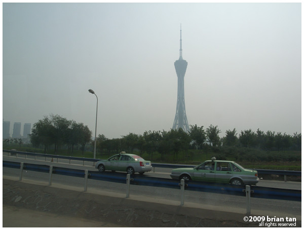 Zhengzhou even has a tall television tower. This is on the way south towards Zhoukou