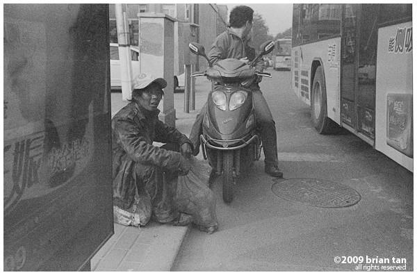 Beggar on the street of Zhengzhou