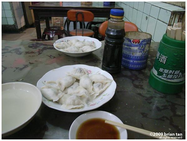 Dinner. Dumplings.