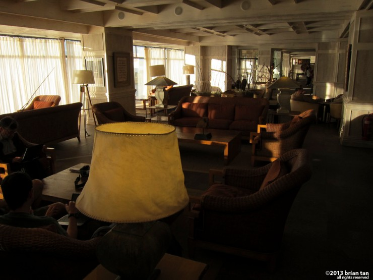 This is the interior of the hotel, where I spent most of the days just surfing the internet and waiting for news