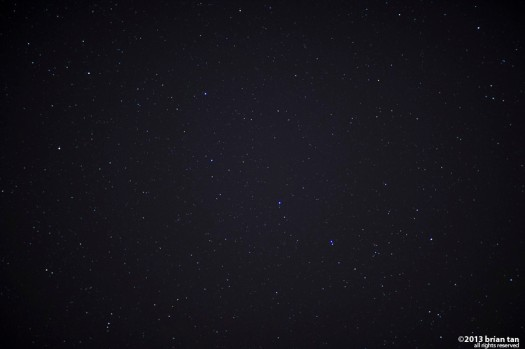 Somewhere in the middle of this photo is the big dipper. Just about the only one I can recognize in a typical night sky. This was taken from the peak of Bohyeonsan close to the observatory. I agree, it could have been taken from the village too, but...