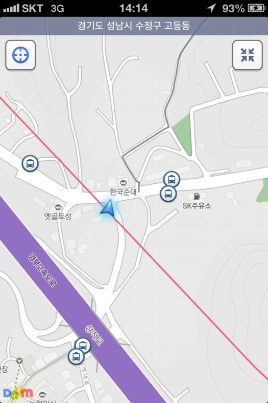 Navigating using Daum Maps