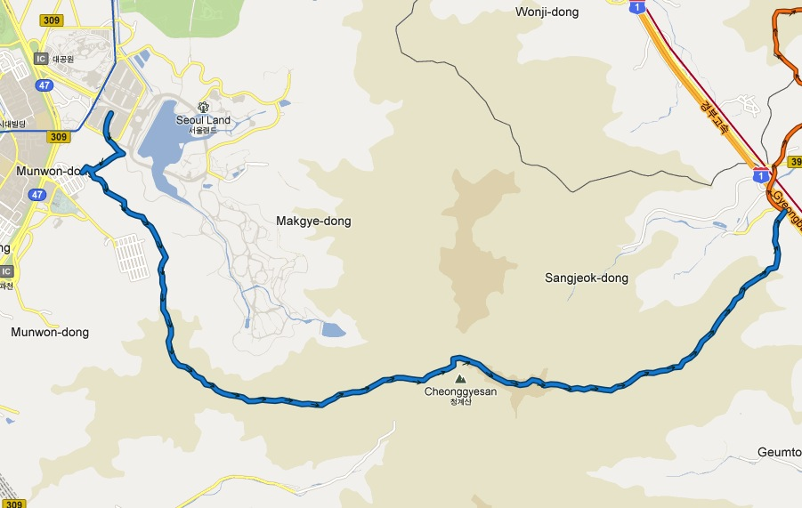 Section 1: Seoul Land to Gyeongbu Expressway