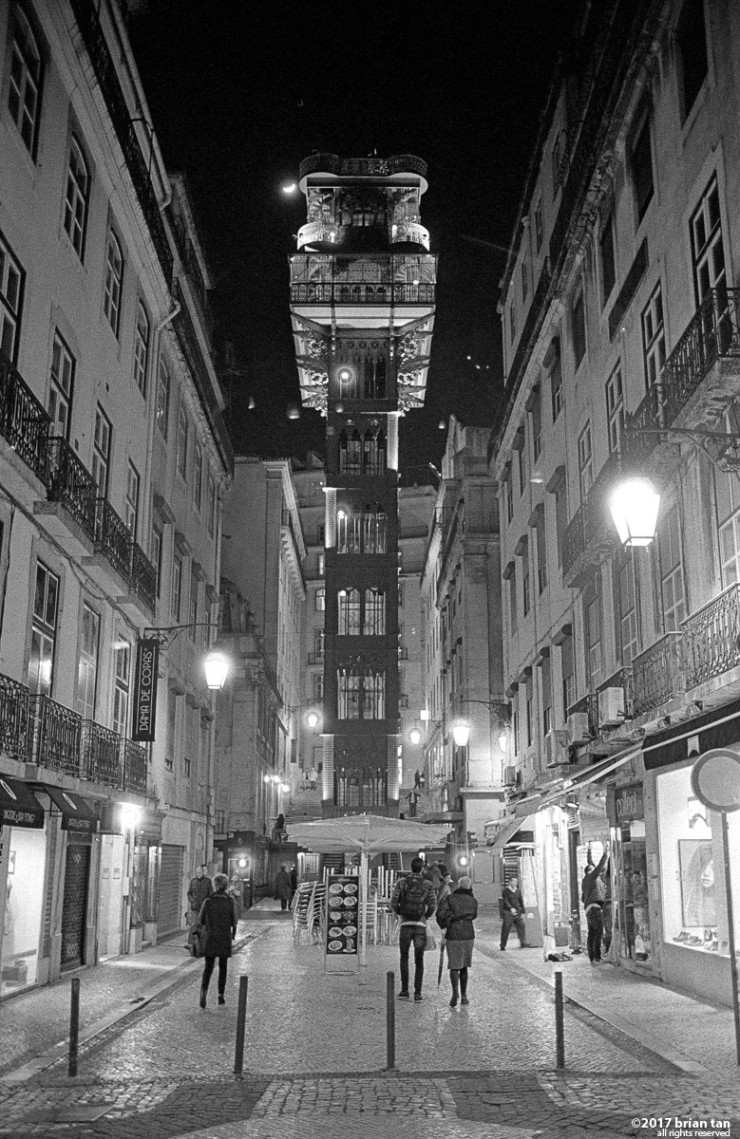 Santa Justa Elevator, connecting street level with upper streets.