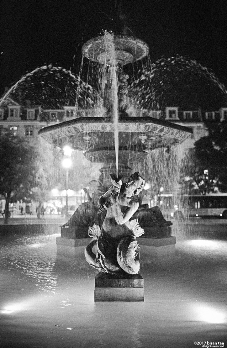 Fountain at Rossio Square